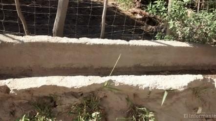 Pasando el reservorio de la familia Moreno Rutowsi el cauce del canal está seco