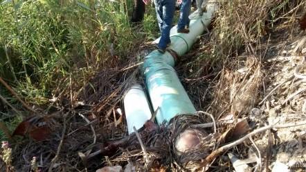 """Después de dicha pila, se encauza en tubería para el """"Grupo Ejidatarios (33)"""""""