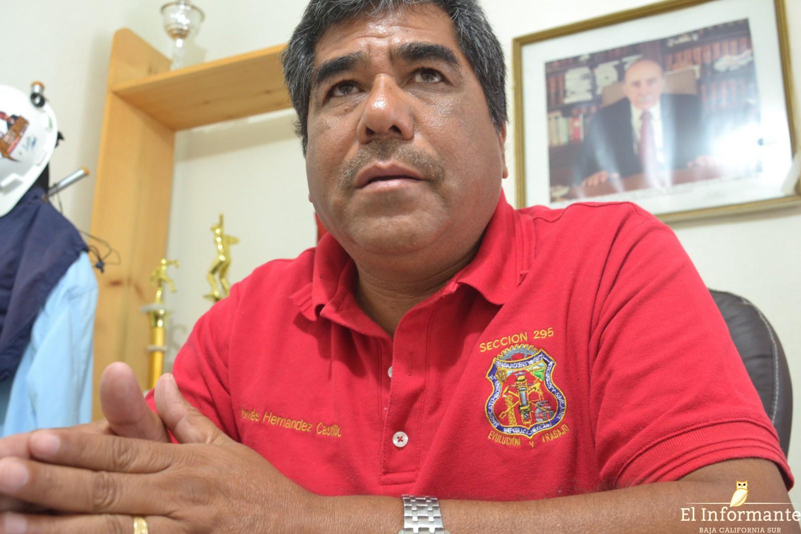 Tomás Hernández Castillo, delegado especial del Comité Ejecutivo Nacional del Sindicato de Trabajadores Mineros, Metalúrgicos, Siderúrgicos y Similares de la República Mexicana