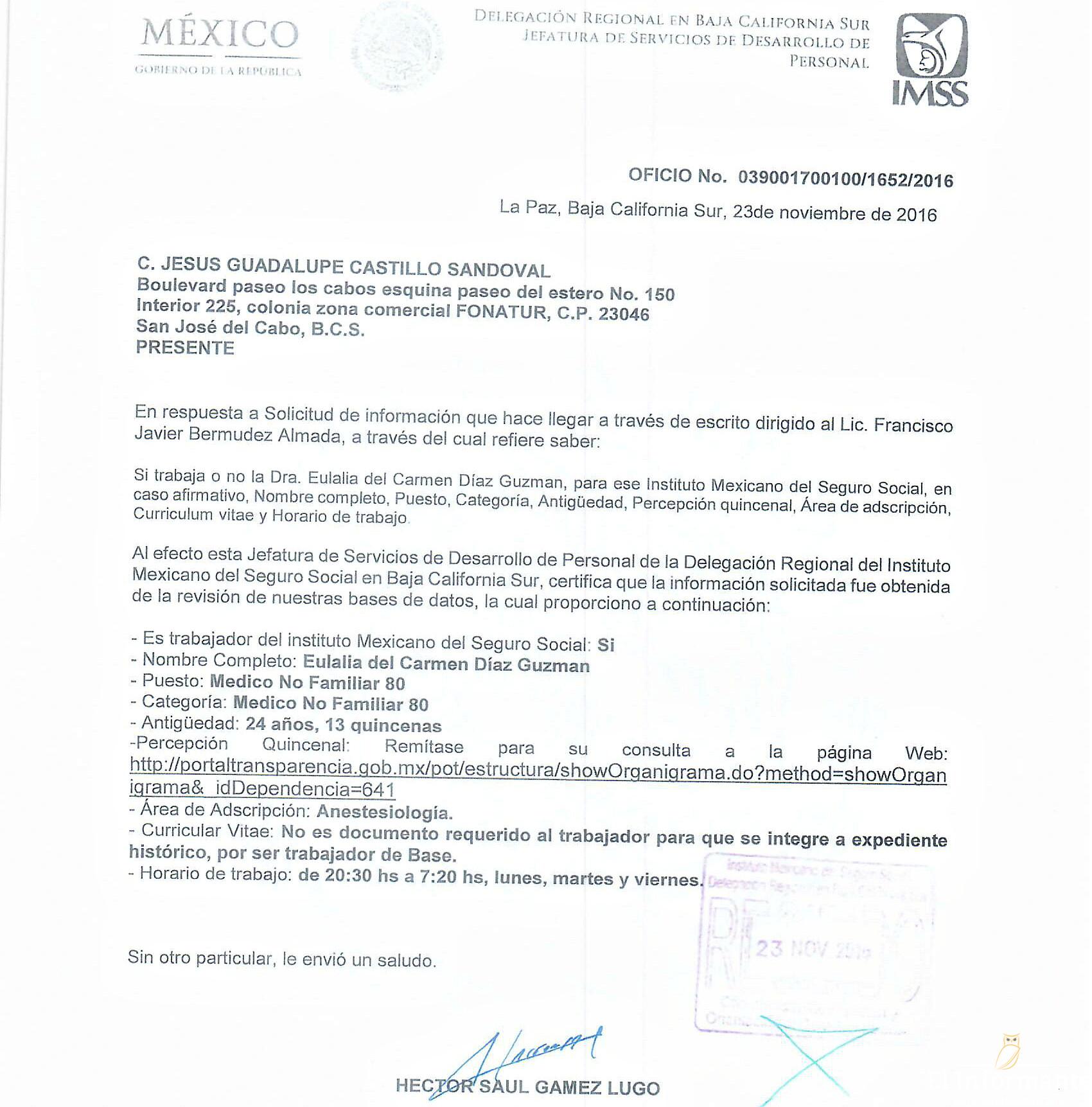 Regidora Eulalia del Carmen Díaz viola las leyes: I Regidor de Los ...