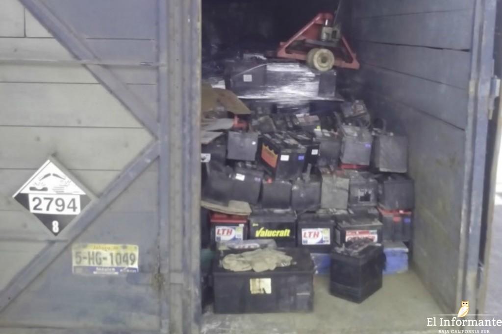Profepa aseguró, de manera precautoria, 30 toneladas de residuos peligrosos.